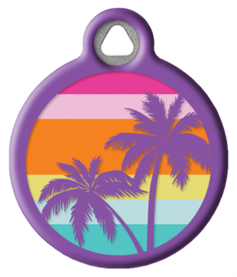 Dog Tag Art Lupine Sunset Beach - DTA-MB684