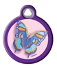 Dog Tag Art Butterfly Tag DTA-