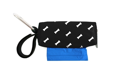 Doggie Walk Bags - Black White Bone Duffel