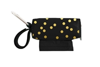 Doggie Walk Bags - Black Gold Dot Square Duffel