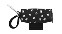 Doggie Walk Bags - Black with White Paws Duffel