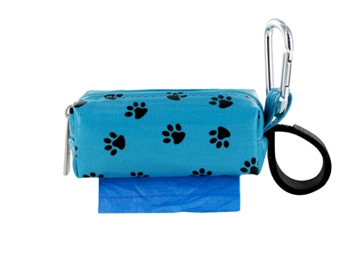 Doggie Walk Bags - Blue with Black Paw Square Duffel