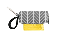 Doggie Walk Bags - Grey White Chevron Square Duffel