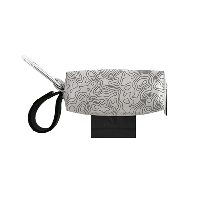 Doggie Walk Bags - Light Gray with Black Topographic