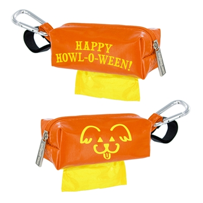 Doggie Walk Halloween Bags - Orange Howl-O-Ween Qty. 1