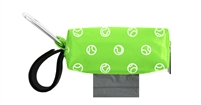 Doggie Walk Bags - Lime with Tennis Balls Duffel