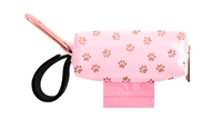 Doggie Walk Bags - Pink with Rose Gold Paws Duffel