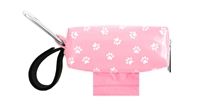 Doggie Walk Bags - Pink with White Paws Duffel