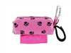 Doggie Walk Bags - Pink with Black Paws Square Duffel