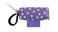 Doggie Walk Bags - Purple with White Paws Duffel