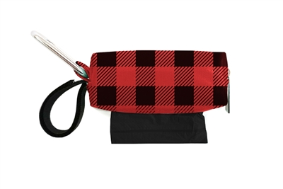 Doggie Walk Bags - Red Check Duffel