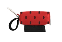 Doggie Walk Bags - Red with Black Hydrants Square Duffel