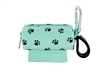 Doggie Walk Bags - Seafoam with Black Paws Square Duffel