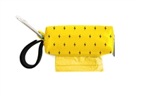 Doggie Walk Bags - Yellow with Black Lightening Bolts Square Duffel
