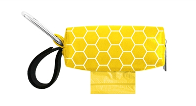 Doggie Walk Bags - Yellow with White Hexagon Duffel