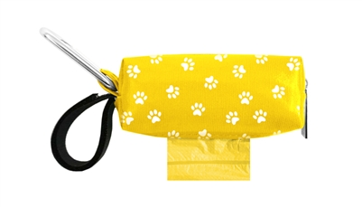 Doggie Walk Bags - Yellow with White Paws Duffel