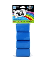 Doggie Walk - Blue Non Tie Handle Refill - 4 Rolls