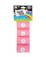 Doggie Walk - Pink Non Tie Handle Refill - 4 Bags