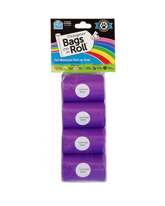 Doggie Walk - Purple Non Tie Handle Refill - 4 Rolls