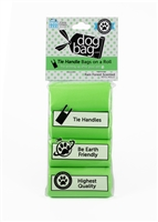 Doggie Walk - Green Tie Handle Refill - 4 Rolls