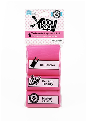 Doggie Walk - Pink Tie Handle Refill (Grapefruit Citrus)