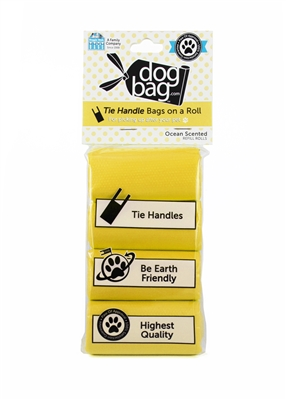 Doggie Walk - Yellow Tie Handle Refill (Ocean Breeze)