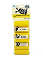 Doggie Walk - Yellow Tie Handle Refill - 6 Rolls