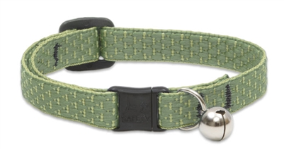 "Lupine ECO 1/2"" Moss Cat Safety Collar with Bell"