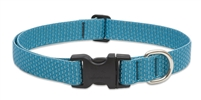 "LupinePet ECO 1"" Tropical Sea 16-28"" Adjustable Collar for Medium and Larger Dogs"