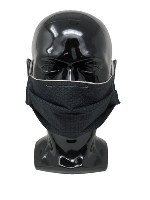 Black Pleated Style Face Mask