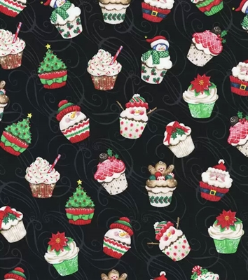 Christmas - Cupcakes  - Pleated Style Face Mask