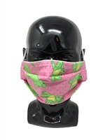 Pleated Style Face Mask - Frog - Adult with Filter Pocket