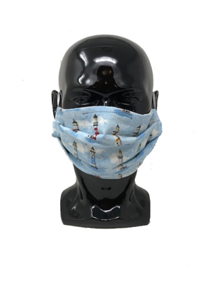 Lighthouses Pleated Style Face Mask