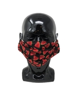 Pleated Style Face Mask - Watermelon - Adult with Filter Pocket