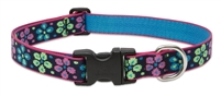 "LupinePet Originals 1"" Flower Power 16-28"" Adjustable Collar for Medium and Larger Dogs"