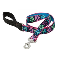 "Lupine 1"" Flower Power 4' Padded Handle Leash"