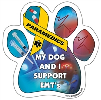My Dog and I Support EMT's Paw Magnet