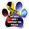My Dog and I Support Police Paw Magnet