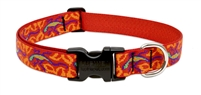 "LupinePet Originals 1"" Go Go Gecko 16-28"" Adjustable Collar for Medium and Larger Dogs"