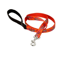 "Lupine 3/4"" Go Go Gecko 4' Padded Handle Leash"