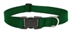 "Lupine Basic Solids 1"" Green 16-28"" Adjustable Collar for Medium and Larger Dogs"