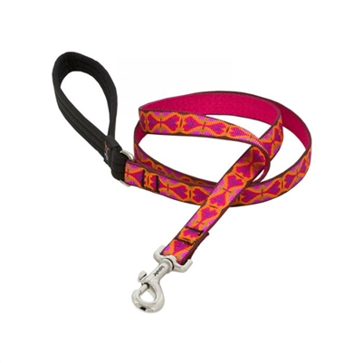 "Retired Lupine 3/4"" Heart 2 Heart 6' Padded Handle Leash"