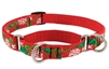 "Retired Lupine 3/4"" Christmas Cheer 10-14"" Martingale Training Collar - Medium Dog"