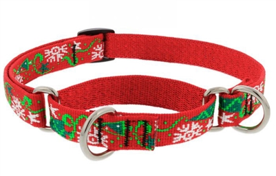 "Retired Lupine 3/4"" Christmas Cheer 10-14"" Martingale Training Collar"