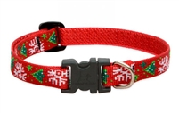 "Lupine 1/2"" Christmas Cheer 10-16"" Adjustable Collar - Small Dog"