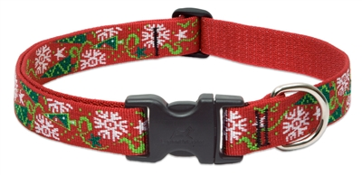 "Lupine 1"" Christmas Cheer 12-20"" Adjustable Collar - Large Dog"