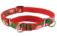 "Retired Lupine 3/4"" Christmas Cheer 14-20"" Martingale Training Collar"