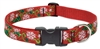 "Lupine 1"" Christmas Cheer 16-28"" Adjustable Collar - Large Dog"