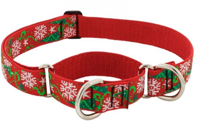 "Lupine 1"" Christmas Cheer 19-27"" Martingale Training Collar - Large Dog"