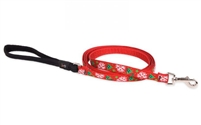 "Lupine 1/2"" Christmas Cheer 4' Padded Handle Leash - Small Dog"